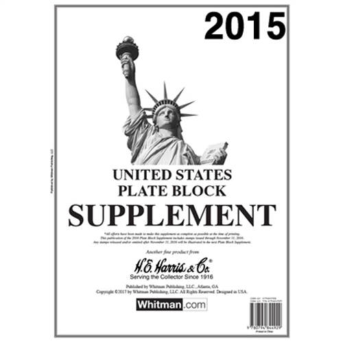 2015 HE Harris US Plate Block Supplement