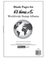 HE Harris Worldwide Blank Album Pages, Package of 64