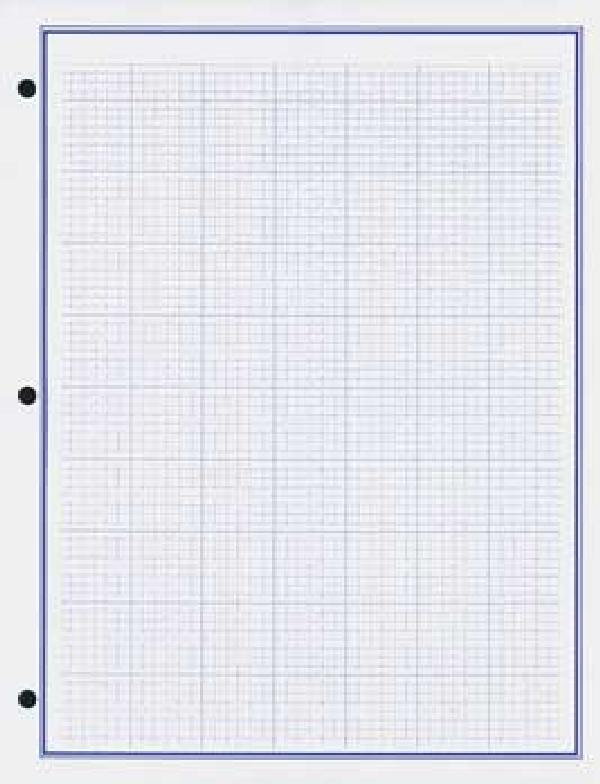 Mystic Quick Mount Pages, Package of 75 3-ring Blue 2-Sided Grid Style