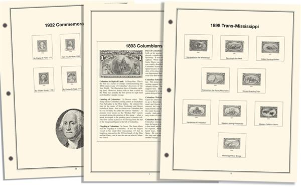 1893-1934 Advanced Heritage Commemorative Stamp Collection Album Pages