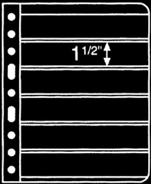 Prinz 6-Strip Black 1-Sided Stock Page, Package of 10