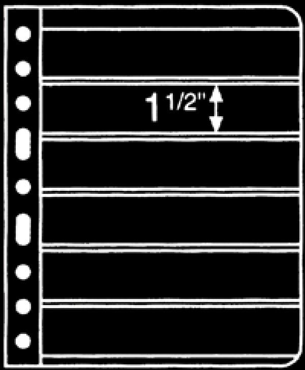 Prinz 6-Strip Black 2-Sided Stock Page, Package of 10