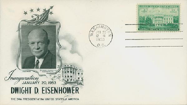 1953 Inauguration Cover - President Dwight D. Eisenhower