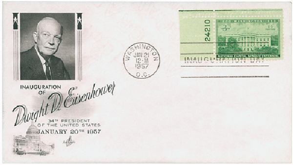 1957 Inauguration Cover - President D. Eisenhower
