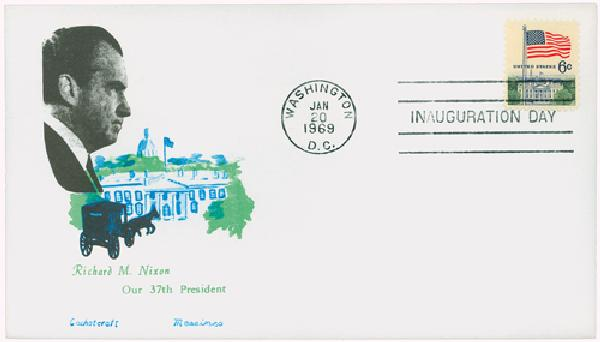 1969 Inauguration Cover - President Richard M. Nixon