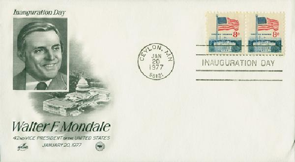 1977 Inauguration Cover - Vice-President Walter Mondale