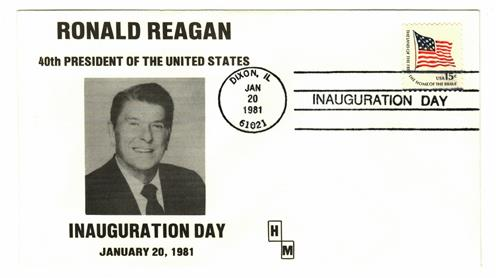 1981 Inauguration Cover - President Ronald Reagan