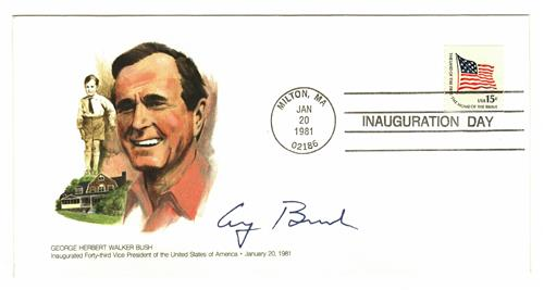 1981 Inauguration Cover - Vice-President George H.W. Bush