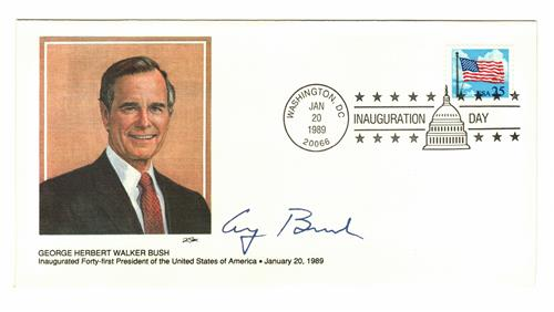 1989  Inauguration Cover - President George H.W. Bush
