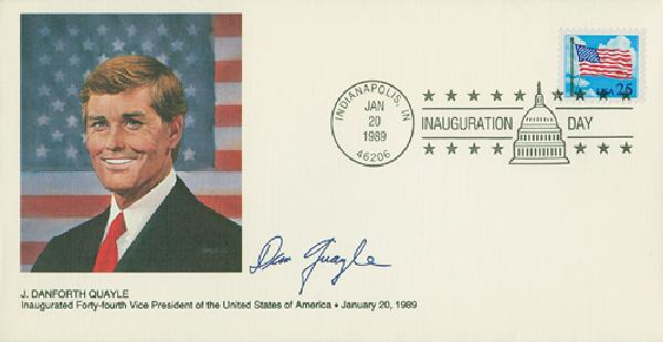 1989 Inauguration Cover - Vice-President J. Danforth Quayle