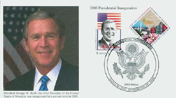 2005 Inauguration Cover - President George Bush (with Liberia stamp)