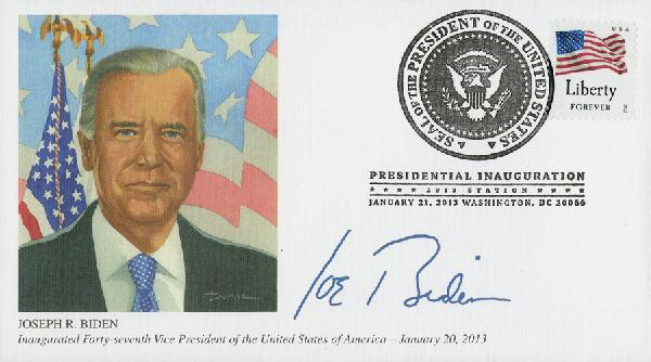 2013 Inaugural Cover - Vice-President Joseph Biden - Formal Portrait