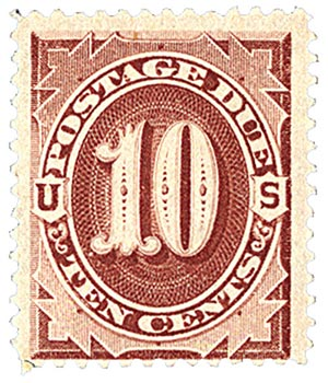 1884 10c Postage Due Stamp