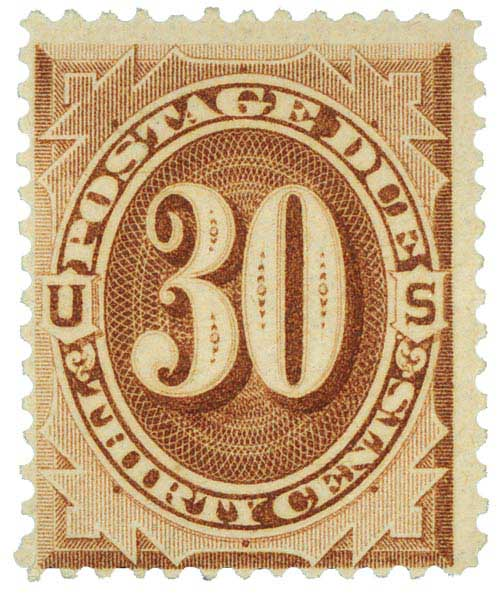 1884 30c Postage Due Stamp