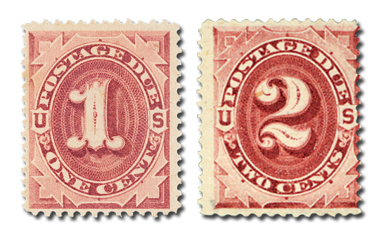 1891 1c & 2c Postage Dues, 2 stamps