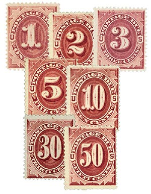 1891 Postage Due Stamps (7)