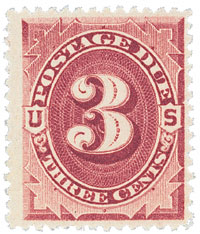 1891 3c Postage Due Stamp