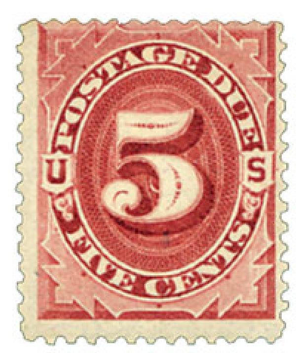 1891 5c Postage Due Stamp