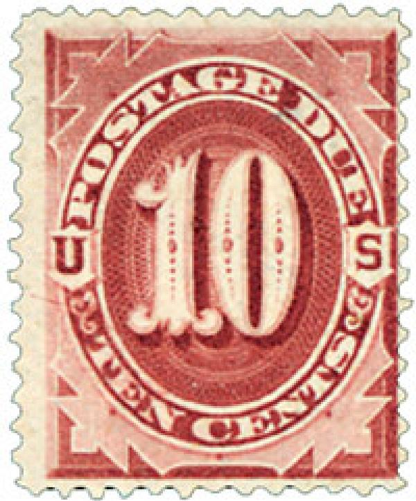1891 10c Postage Due Stamp
