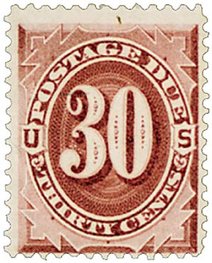 1891 30c Postage Due Stamp