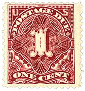 1894 1c Postage Due Stamp