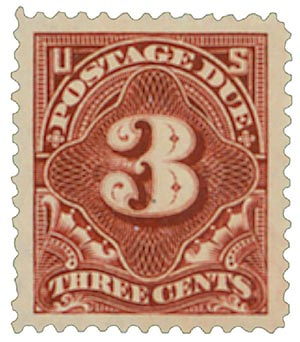 1895 3c Postage Due Stamp