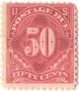 50c pale rose perf 12 unwmk