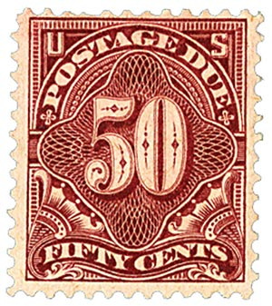 1896 50c Postage Due Stamp