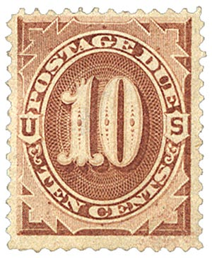 1879 10c Postage Due Stamp