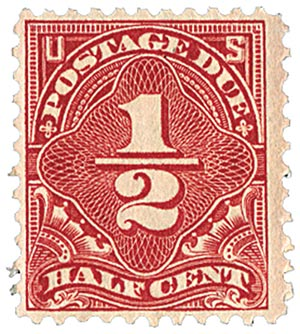 1925 1/2c Postage Due dull red