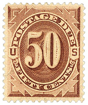 1879 50c Postage Due Stamp