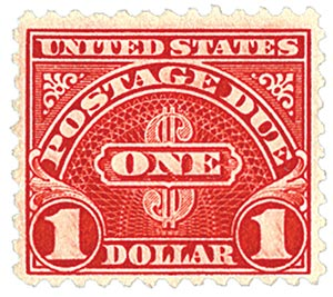 1930 $1 Postage Due Stamp