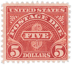 1930 $5 Postage Due Stamp