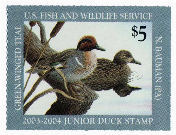 2003 $5 Green-winged Teal Junior Duck St