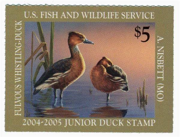 2004 $5 Fulvous Whistling Junior Duck St