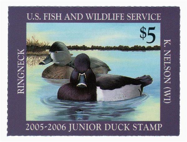 2005 $5 Ring-necked Junior Duck Stamp