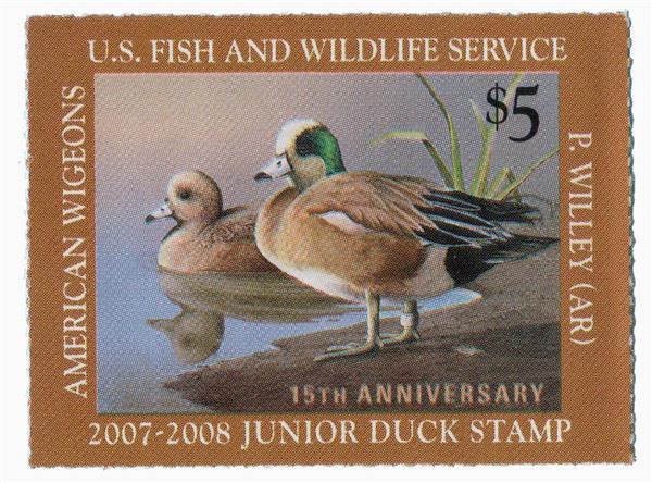 2007 $5 Wigeons Junior Duck Stamp