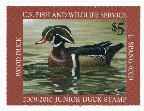 2009 $5 Wood Duck Junior Duck Stamp