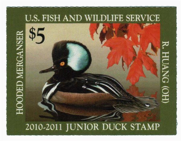 2010 $5 Hooded Merganser Junior Duck Sta