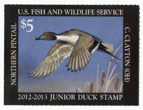 2012 $5 Northern Pintail Junior Duck Sta