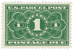1913 Parcel Post Due Stamp 1c