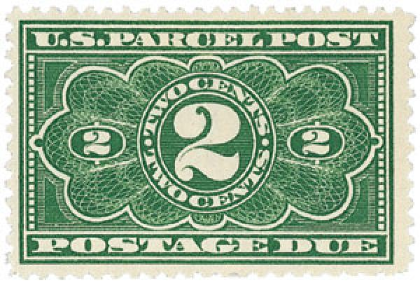 1913 2c Parcel Post Due Stamp