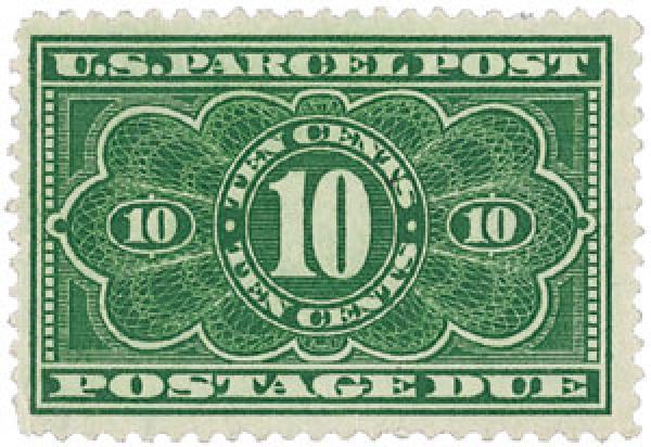 1913 Parcel Post Due Stamp 10c