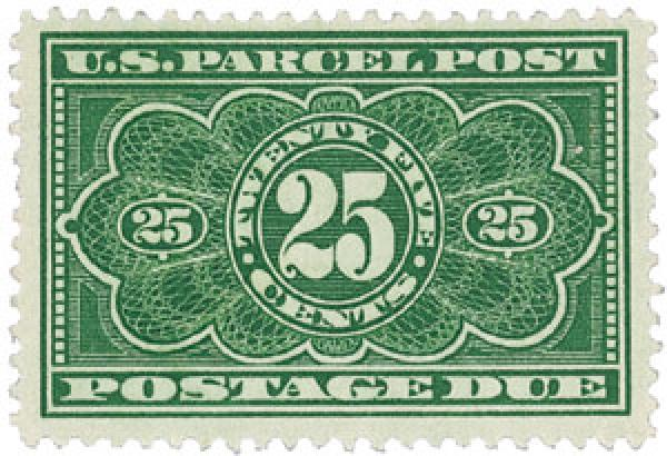 1913 Parcel Post Due Stamp 25c