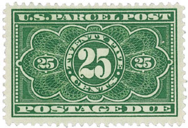 1913 Parcel Post Due Stamp 25c