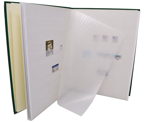 Used Stamp Stockbook in good condition, 10 or more double sided pages - Various colors