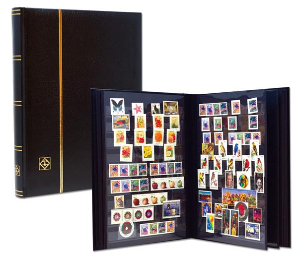 Lighthouse Premium Stock Book, 32 Black Pages 288 Strips