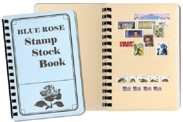 Blue Rose Stock Book, 10 Manilla Pages 110 strips