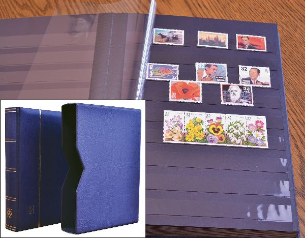 Lighthouse Premium Stockbook, 64 Black Pages, 576 Strips with Slipcase