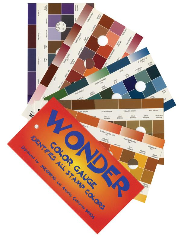 'Wonder' Color Guide for Postage Stamps